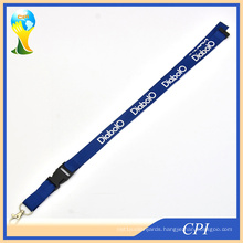 Polyester Hot Lanyard Blue Silk Screen Lanyard